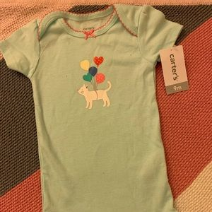 Carter's Onesie with Cat and Balloons